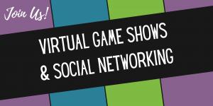 Colourful graphic invitation to the Association of Administrative Administrative Professionals - Hamilton Branch June Social Event with Virtua Game Shows and Social Netwroking